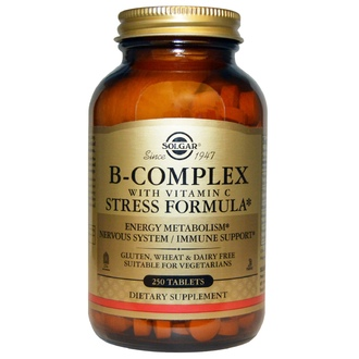 Solgar, B-Complex with Vitamin C Stress Formula, 250 Tablets - iHerb.com