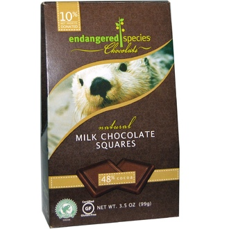 Endangered Species Chocolate, Smooth Milk Chocolate, 10 pieces, .35 oz (10 g) Each - iHerb.com
