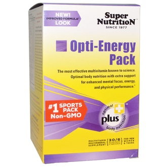 Super Nutrition, Opti-Energy Pack, MultiVitamin/Mineral Supplement, 30 Packets, (6 Tabs) Each - iHerb.com