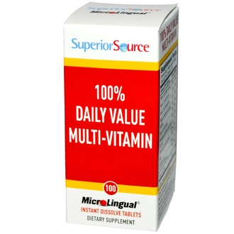 Superior Source, 100% Daily Value Multi-Vitamin, 100 MicroLingual Instant Dissolve Tablets - iHerb.com