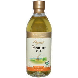 Spectrum Naturals, Organic Peanut Oil, Refined, 16 fl oz (473 ml) - iHerb.com
