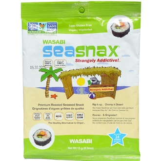 SeaSnax, Wasabi, Roasted Seaweed Snack, 5 sheets - .54 oz (15 g) - iHerb.com