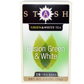 Stash Tea, Premium, Fusion Green & White Tea, 18 Tea Bags, 1.0 oz (29 g) - iHerb.com