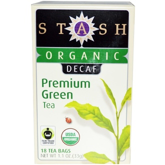 Stash Tea, Organic, Premium, Decaf, Premium Green Tea, 18 Tea Bags, 1.1 oz (33 g) - iHerb.com