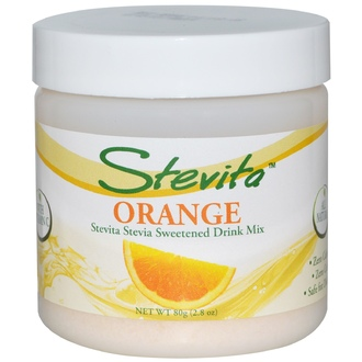 Stevita, Flavored Stevia Crystals, Orange, 2.8 oz (80 g) - iHerb.com