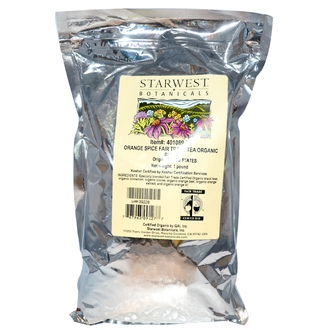 Starwest Botanicals, Fair Trade Organic Tea Blend, Orange Spice, 1 lb - iHerb.com