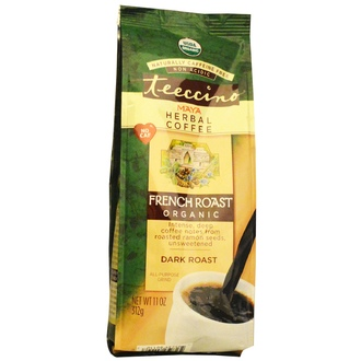 Teeccino, Organic Maya Herbal Coffee, French Roast, Caffeine Free, 11 oz (312 g) - iHerb.com