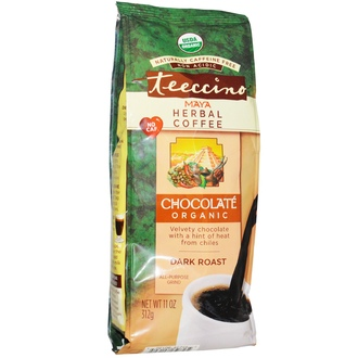 Teeccino, Organic Maya Herbal Coffee, Dark Roast, Caffeine Free, Chocolate, 11 oz (312 g) - iHerb.com