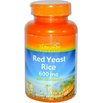 Thompson, Red Yeast Rice, 600 mg, 100 Veggie Caps - iHerb.com