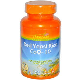 Thompson, Red Yeast Rice CoQ-10, 60 Veggie Caps - iHerb.com