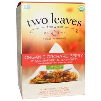 Two Leaves and a Bud, Organic Orchard Berry, Whole Leaf Herbal Tea Sachets, Caffeine Free, 15 Sachets, 1.06 oz (30 g) - iHerb.com