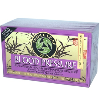 Triple Leaf Tea, Blood Pressure, Caffeine-Free, 20 Tea Bags, 1.4 oz (40 g) - iHerb.com