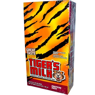 Tiger\'s Milk Bars, American\'s Original Nutrition Bar, Protein Rich, 24 Bars, 1.23 oz (35 g) Each - iHerb.com
