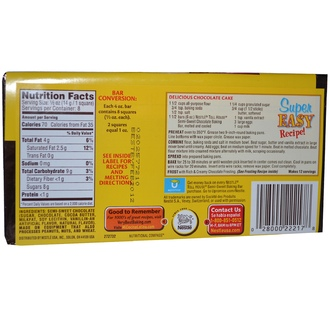 Nestle Toll House, Baking Chocolate Bar, Semi-Sweet, 4 oz (113 g) - iHerb.com