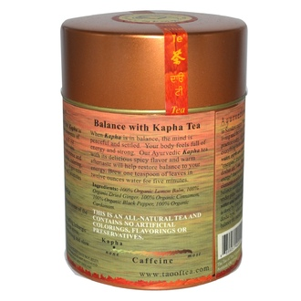 The Tao of Tea, 100% Organic Kapha Ayurvedic Tea, Caffeine Free, 2.5 oz (72 g) - iHerb.com
