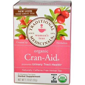 Traditional Medicinals, Herbal Tea, Organic Cran-Aid, Caffeine Free, 16 Wrapped Tea Bags, 1.13 oz (32 g) - iHerb.com