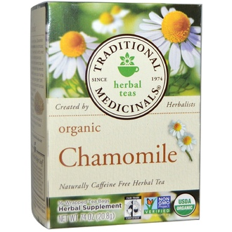 Traditional Medicinals, Herbal Teas, Organic Chamomile, Caffeine Free, 16 Wrapped Tea Bags, .74 oz (20.8 g) - iHerb.com