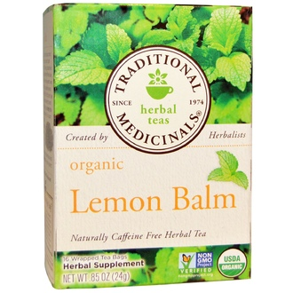 Traditional Medicinals, Herbal Teas, Organic Lemon Balm, Caffeine Free, 16 Wrapped Tea Bags, .85 oz (24 g) - iHerb.com