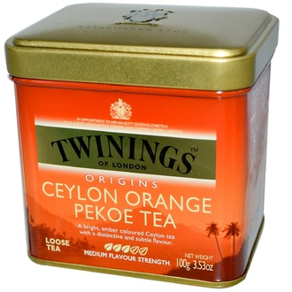 Twinings, Origins, Ceylon Orange Pekoe Loose Tea, 3.53 oz (100 g) - iHerb.com