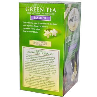 Twinings, Green Tea, Jasmine, 20 Tea Bags, 1.41 oz (40 g) - iHerb.com