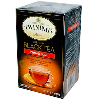 Twinings, Premium Black Tea, Orange Bliss, 20 Tea Bags, 1.41 oz (40 g) - iHerb.com