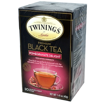 Twinings, Premium Black Tea, Pomegranate Delight, 20 Tea Bags, 1.41 oz (40 g) - iHerb.com