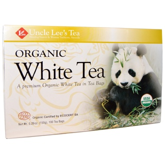 Uncle Lee\'s Tea, Organic White Tea, 100 Tea Bags, 5.29 oz (150 g) - iHerb.com