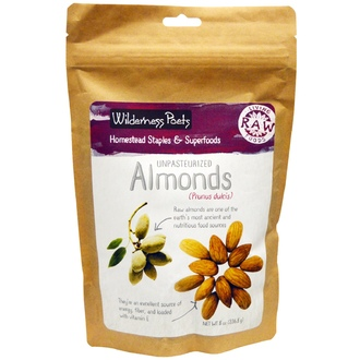Wilderness Poets, Unpasteurized Almonds, 8 oz (226.8 g) - iHerb.com