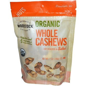 Woodstock Farms, Organic Whole Cashews, Dry Roasted & Salted, 7 oz (198 g) - iHerb.com