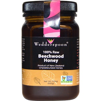 Wedderspoon Organic, Inc., 100% Raw Beechwood Honey, 17.6 oz (500 g) - iHerb.com