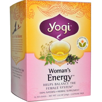 Yogi Tea, Woman\'s Energy, Caffeine Free, 16 Tea Bags, 1.02 oz (29 g) - iHerb.com