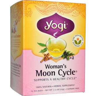 Yogi Tea, Woman\'s Moon Cycle, Caffeine Free, 16 Tea Bags, 1.12 oz (32 g) - iHerb.com