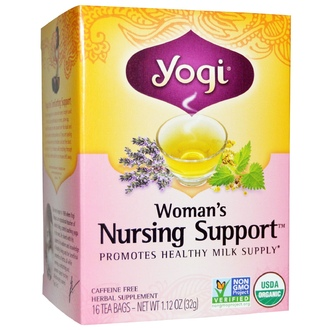 Yogi Tea, Organic, Woman\'s Nursing Support, Caffeine Free, 16 Tea Bags, 1.12 oz (32 g) - iHerb.com