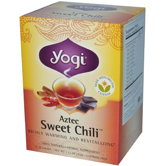 Yogi Tea, Aztec Sweet Chili, Caffeine Free, 16 Tea Bags, 1.12 oz (32 g) - iHerb.com