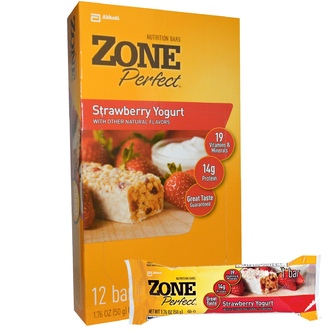 ZonePerfect, Nutrition Bars, Strawberry Yogurt, 12 Bars, 1.76 oz (50 g) Each - iHerb.com